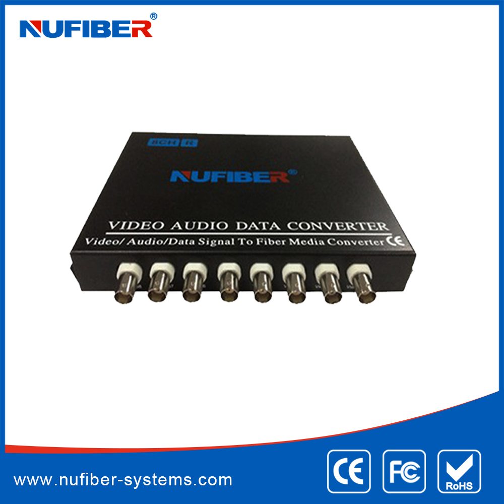 8 channel single fiber digital video optic transceiver