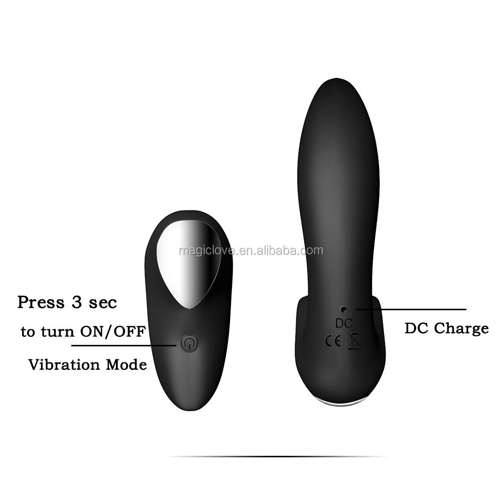 Vibrating Prostate Massager Men Anal Plug Waterproof Powerful Motors 10 Stimulation Patterns Butt Silicone Sex Toys for Adults
