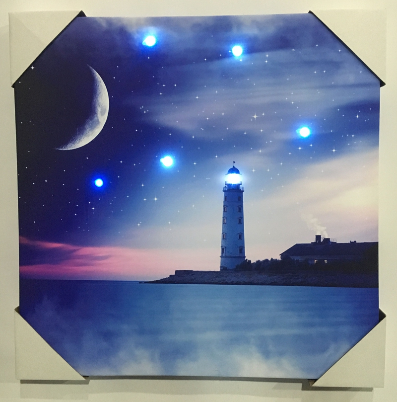 Latest producing led canvas painting framed set wall art