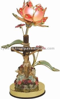 Religious Polyresin Touch Lamp