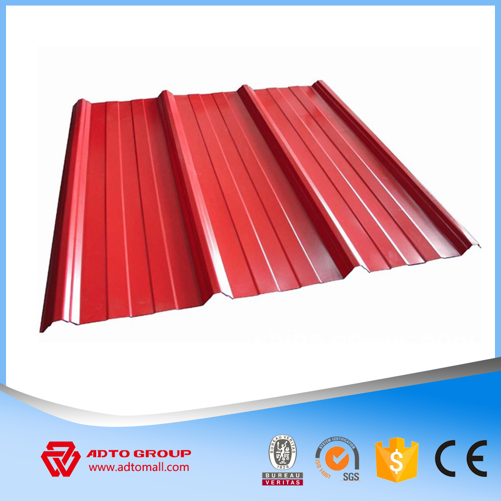 Kuwait Clear Red Corrugated Tile Effect Steel Roofing Sheets