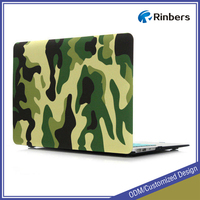 Green/Gray/Blue/Brown Camouflage Pattern Rubberized Hard Shell Cover Case for New MacBook Air 11 13 Pro 13 15 Retina 12 Inch