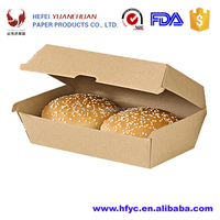 Custom design printed F flute corrugated Super thick paper burger boxes