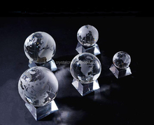 High quality small crystal globe ball for gift