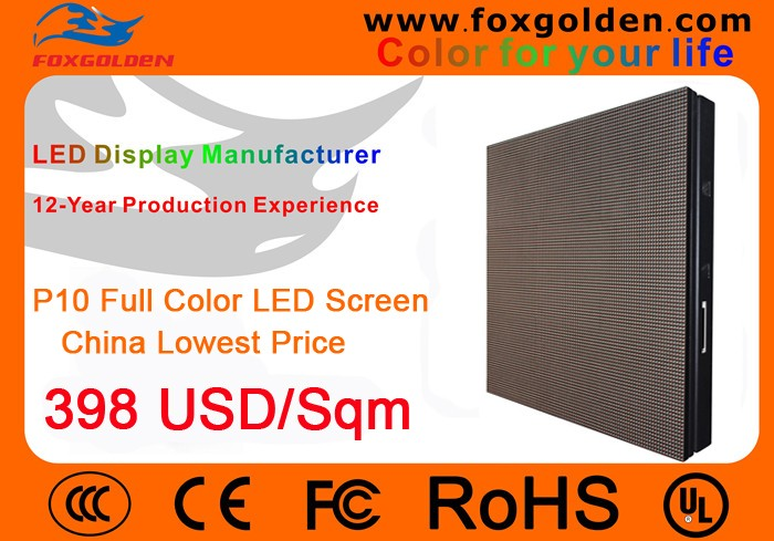 outdoor waterproof advertising P10 full color led display screens