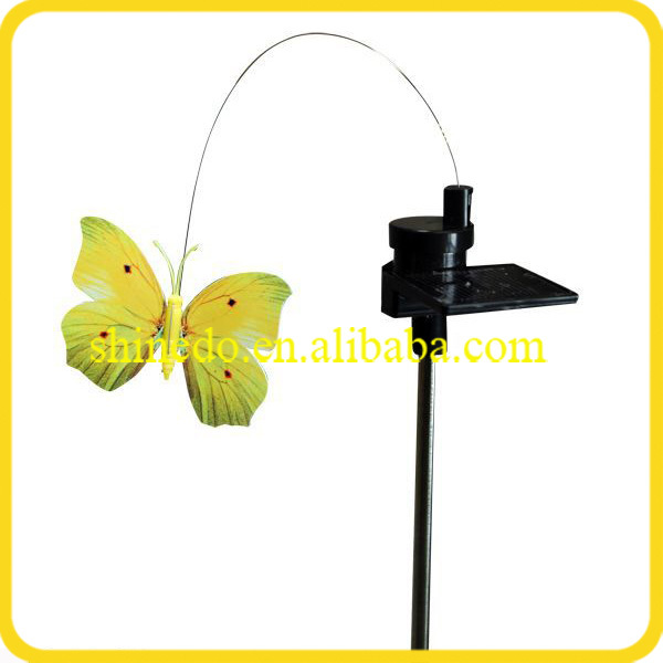 2017 new products solar powered flying butterfly for garden