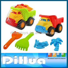 2016 Summer Plastics Sand Beach Toy Truck and Shovels for Kids