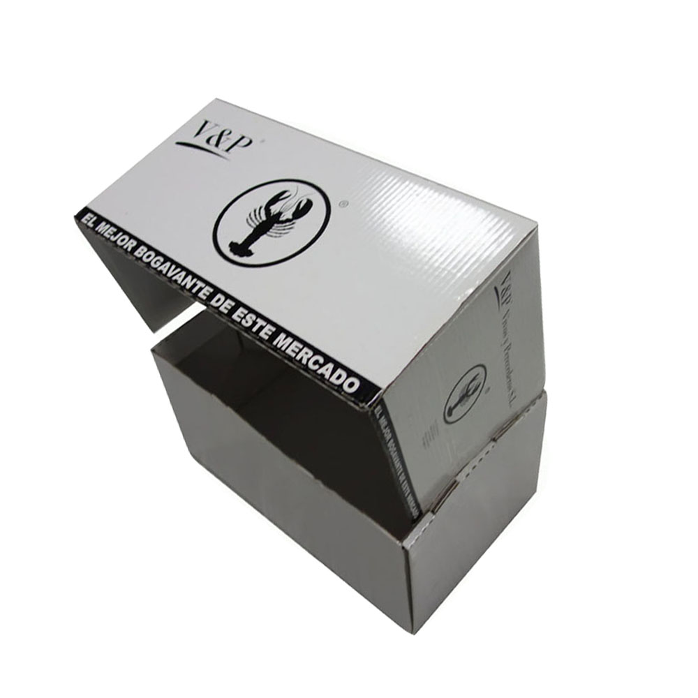 Cheap price corrugated cardboard paper box for shrimp <strong>packing</strong>