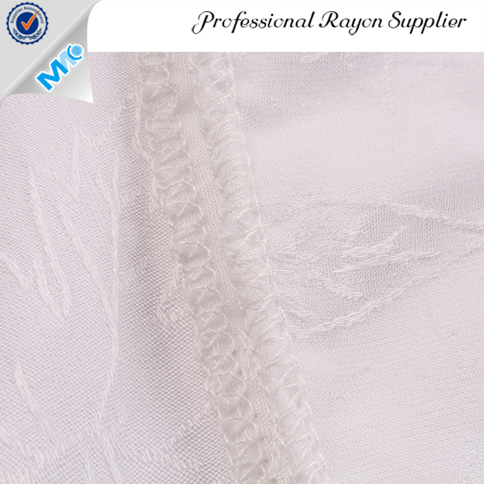 Hot Sell New Product Plain Dyed Double Woven Stretch Spandex rayon Jacquard Fabric
