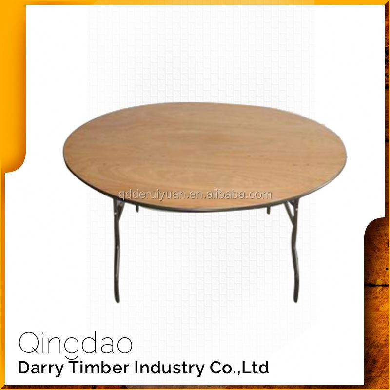 European Style Modern Wood Folding Banquet Tables