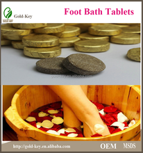 japanese hot girl's best choice for foot care: foot bath effervescent tablets, relieving the fatigue and skin peeling
