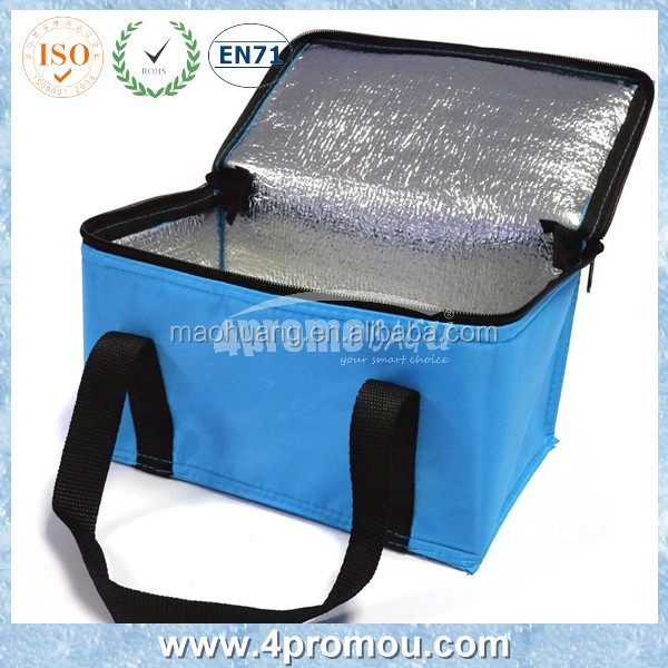 Blue color Student Polyester Insulated Cooler bag