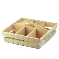 Natural color FSC wooden crate for apple fruit crates(box) for sale