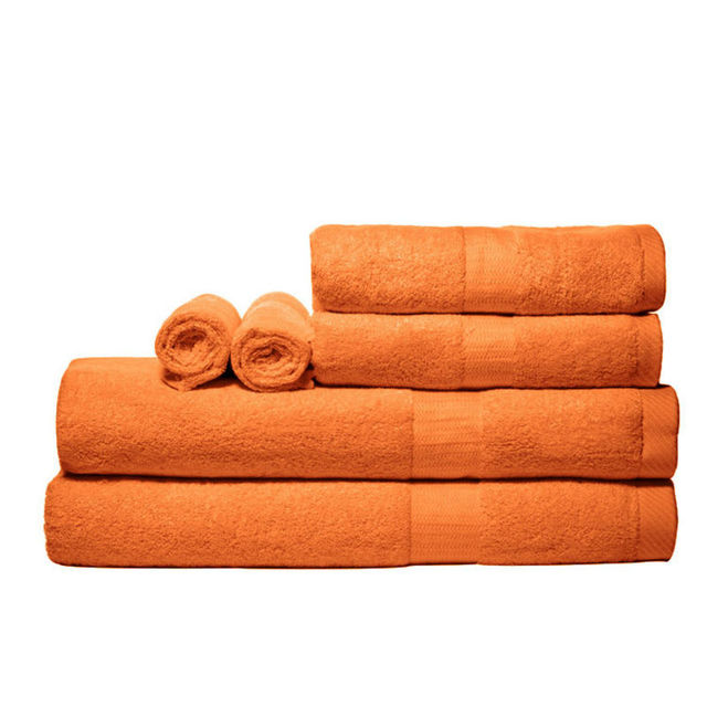 100% Viscose from Bamboo Towels: 3 Piece Set - Orange