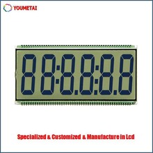 Factory Custom 6-digit lcd display on the basis of your lcd specification requirment