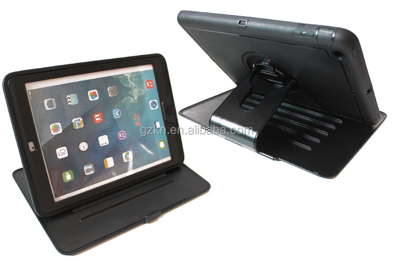Premium foldable stand holder case for iPad Air with front cover