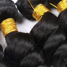 African curly Micro thin Natural Colour brazilian bulk loose wave hair extensions with weft
