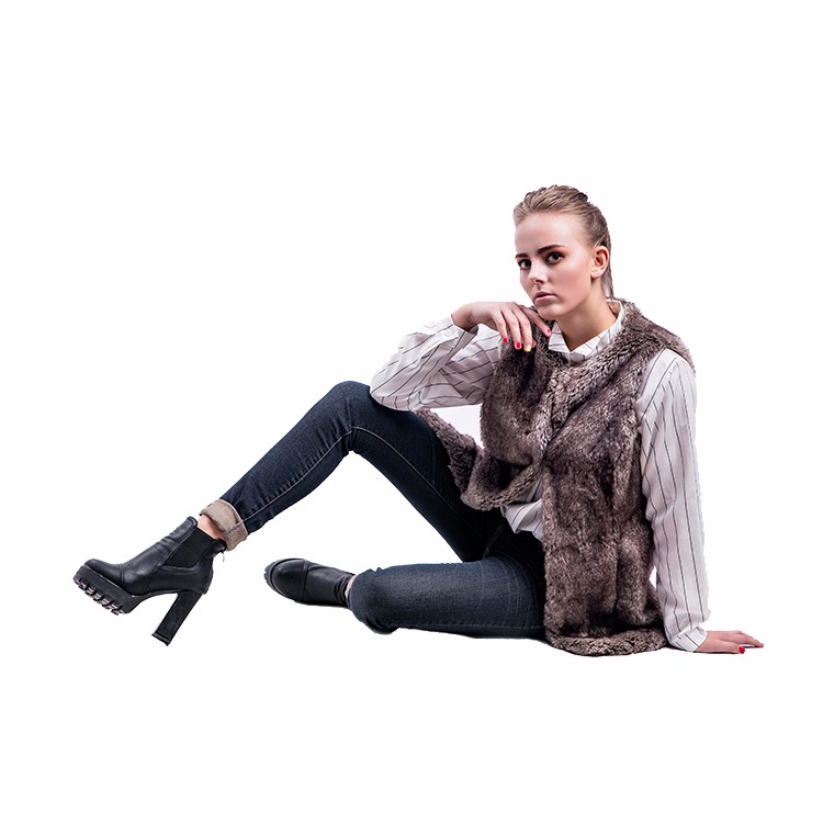 Warm And Comfortable Faux Raccoon Fur Coat