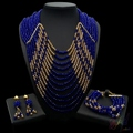 crystal bead jewelry set costume african jewelry sets big size jewellery set