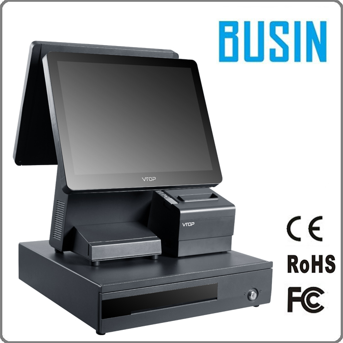 BUSIN 15 inch touchscreen rfid pos terminal for restaurant