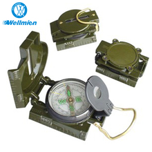 ROHS Aluminium Alloy Army Green Geological Military Compass