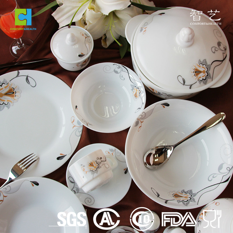 Heat resiatant tempered opal glass dinnerware
