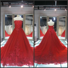 Beaded red evening gowns in india