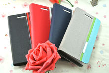 Jeans with PU leather smart cover belt buckle leather case for HTC P660 P3470