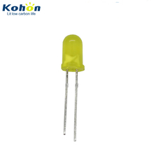 ROHS&REACH certificate high lumens intensity 5mm dip Yellow color LED diode