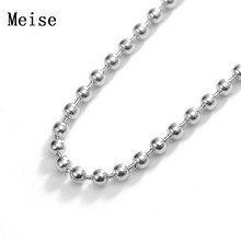Yiwu Meise high quality stainless steel bead chain ball chain Necklace