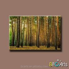 Wholesale cheap forest scenery stretched canvas print