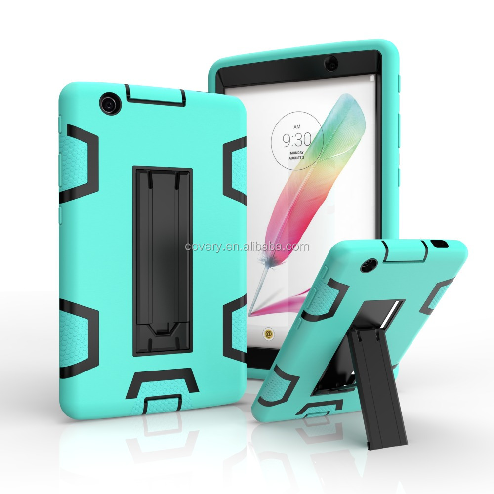 Shockproof tablet case for iPad air 2 , for iPad kickstand armor case , for iPad case silicone
