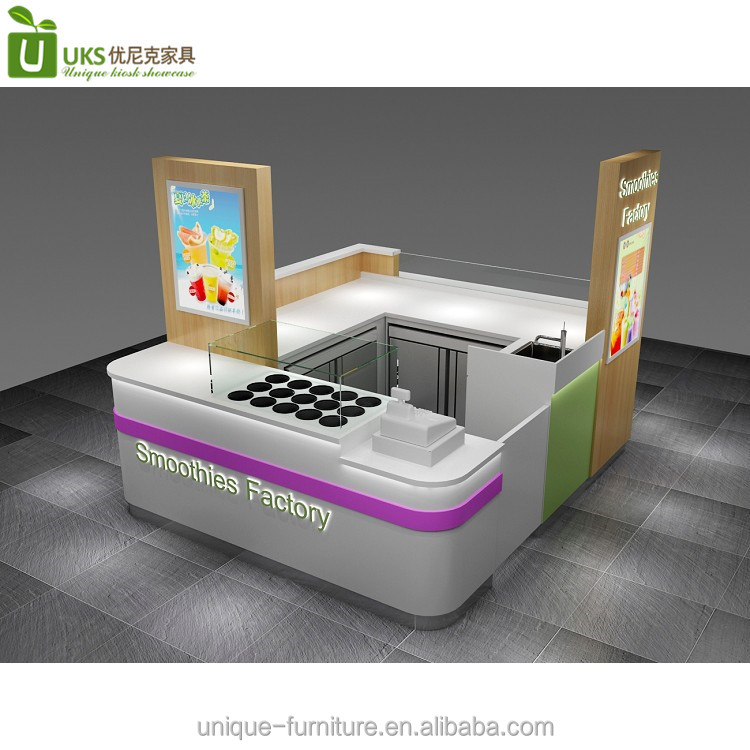 10 by 8 ft juice bar kiosk design and smoothies kiosk for sale