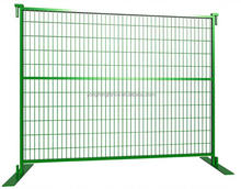 Cheap price red color Canada security temporary steel fence/free standing fence