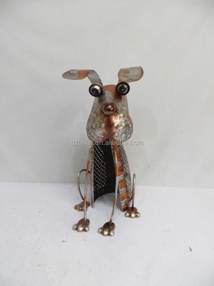 Metal garden handi craft metal dog metal large animal ornament