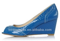 Cheap shoes blue wedge heel shoes(style no. WP92571)