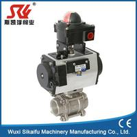 Elaborate api standard ceramic 3 pc pneumatic ball valve gear operate