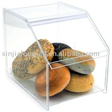 clear acrylic bread case or plastic food container with lid