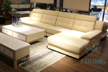 contemporary extra long leather sofa
