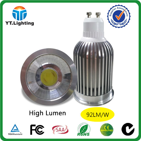 Aluminium high power led lamp 9w gu10 led lights 120 degree led bulb 800 lumen