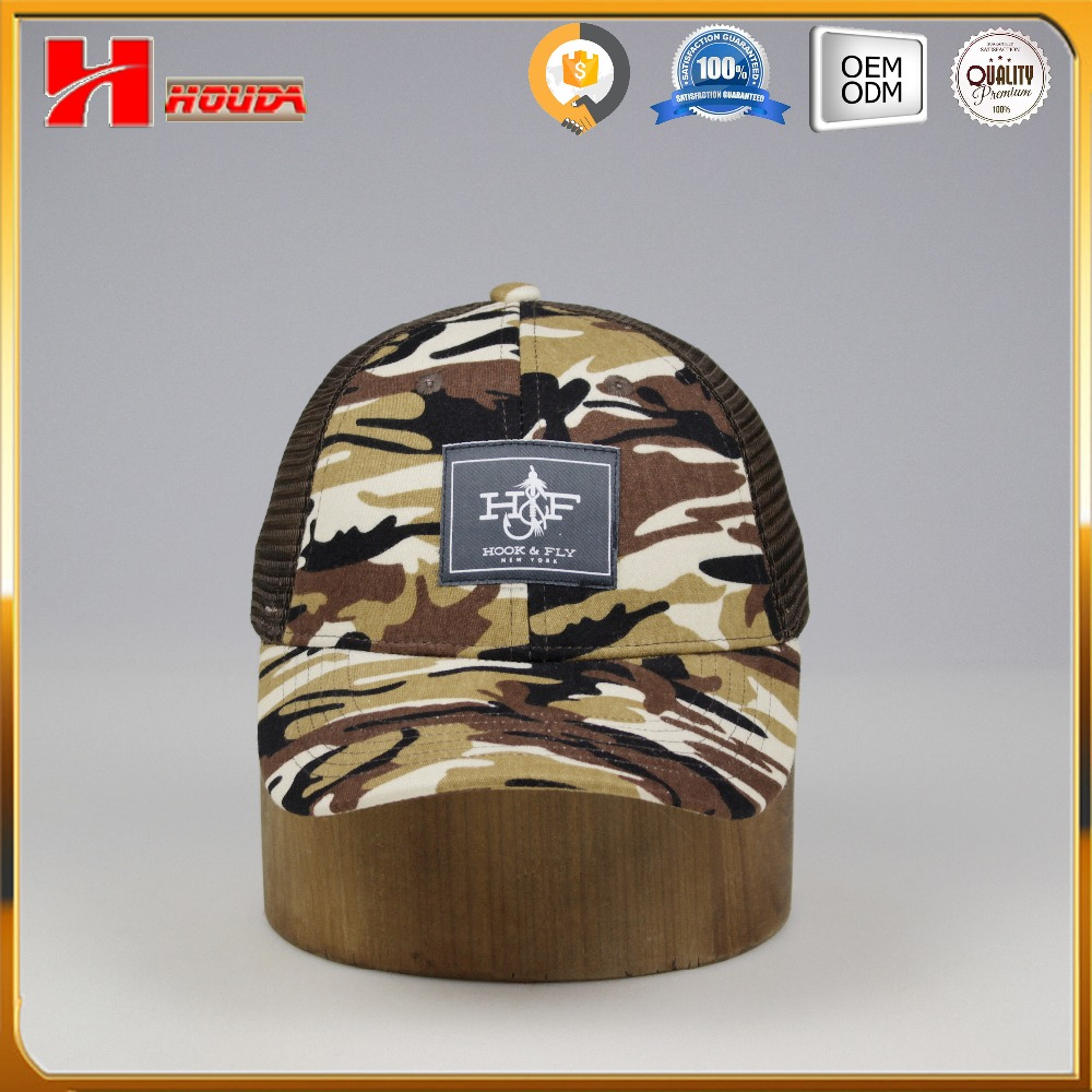 Customized Logo Printing Camouflage Mesh Caps Military Style Caps and Hats
