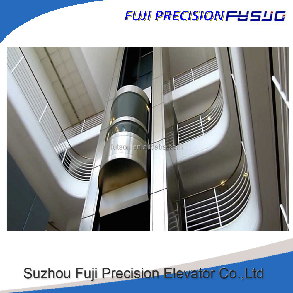 Fuji Panoramic glass passenger elevator lift with a good residential elevator price