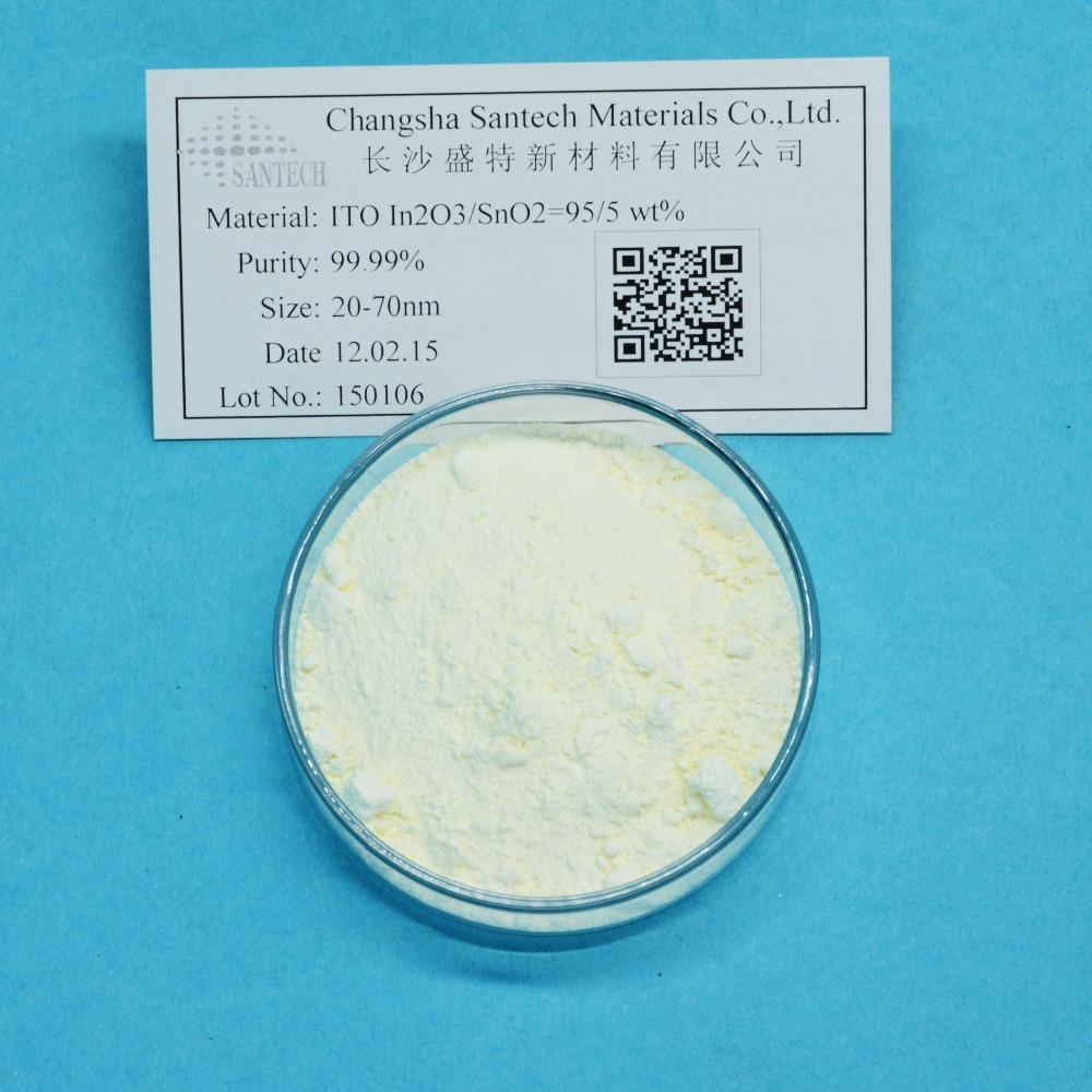 Heat transparent insulation glass coating conductive material ITO 99.99% In2O3/SnO2 95:5 buy indium tin oxide powder