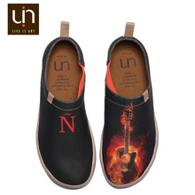 UIN Metal Music Rock and roll fashion painted high quality royal man footwear wholesale