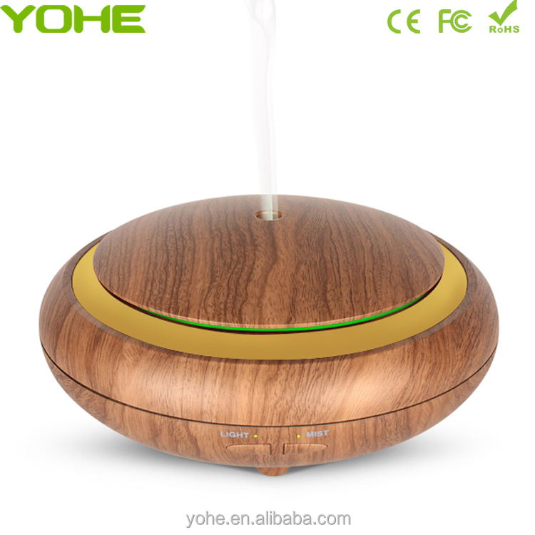 Wholesale 150ML best sellers wood grain aroma oil diffuser remote control diffuser for spa yoga home office