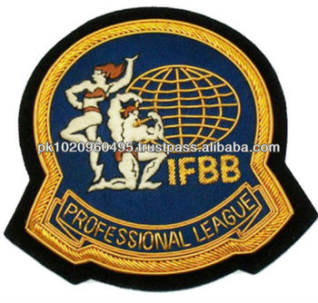 Body Building Club Badge, Hand Embroidered Club Badges, Premium Quality