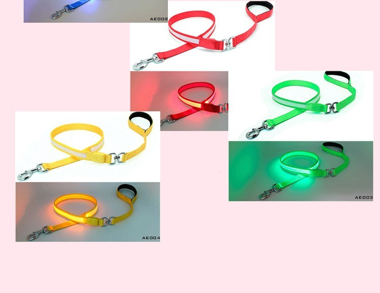 Dongguan waterproof led safety light material nylon print dog leash