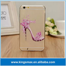 "New design Hot Original Ultra thin Mobile Phone Case with diamond PC Full Protective case for iPhone 6 4.7"" electroplated cover"