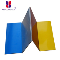Alucoworld outdoor wall partition caravan wall cladding aluminum ceiling panel