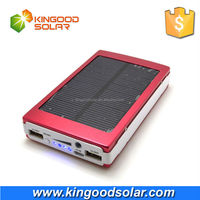 Factory price Monocrystalline solar panel 5V 2.1A dual USB portable mobile solar power bank 30000 mah for mobile phones